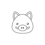 Wild boar Drawing Face Royalty Free Stock Photos