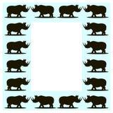 Wild boar frame Stock Image