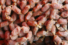 Wild boar mini sausages Stock Photos
