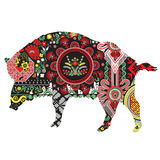 Wild boar with patterns Stock Photography