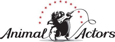 Wild boar singer. vector illustration