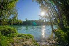 Wild Brenta River Royalty Free Stock Photography
