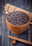 Wild brown rice Stock Images