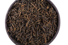 Wild brown rice in bowl Royalty Free Stock Photos