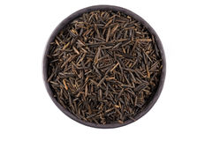 Wild brown rice in bowl Stock Image