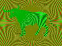 Wild bull. Optical illusion vector illustration Royalty Free Stock Photography