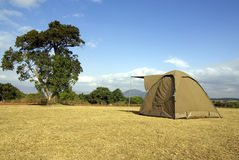 Wild camping. Image of a tent in a wild camping Royalty Free Stock Photos