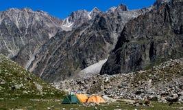 Wild camping Royalty Free Stock Image