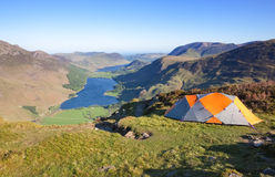 Wild camping in the Lake District Royalty Free Stock Photos