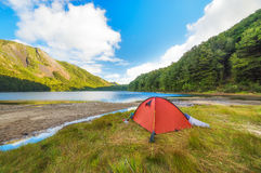 Wild Camping. In New Zealand Royalty Free Stock Photos