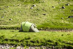 Wild camping in the wildernis of Glen Etive, Scotland. Europe Stock Images