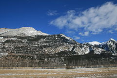 Wild Canadian Rockies. Canadian Rocky Mountains give us feeling of real freedom, mostly untouched, wild and formed by power of nature Royalty Free Stock Photo