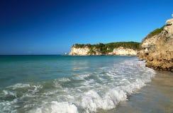 Wild Caraïbisch strand Macao stock foto