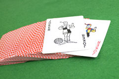 Wild card poker deck Stock Photos