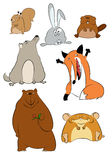Wild cartoon animals. Vector image of collection of wild cartoon animals Stock Photos