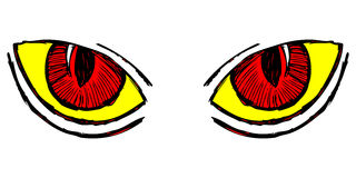 Wild cat eyes Stock Photos
