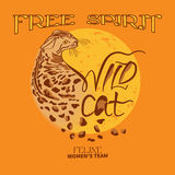 Wild cat print Royalty Free Stock Images