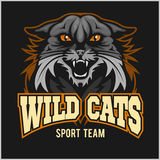 Wild cats sport team - logotype, emblem Royalty Free Stock Photography