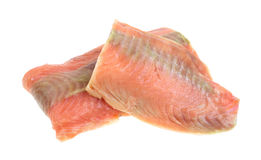 Wild caught salmon fillets Royalty Free Stock Images