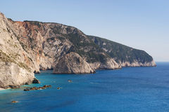 Wild cliffs of Lefkada Royalty Free Stock Photo