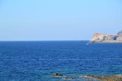 Wild cliffs and sea landscape Stock Image