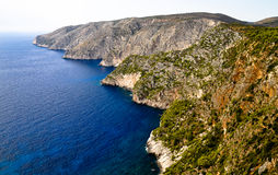 Wild cliffs of the western Zakynthos. Greece Stock Photography