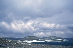 Wild Clouds. Wilds clouds caused by fierce katabatic winds along the coast of Antarctica Stock Images