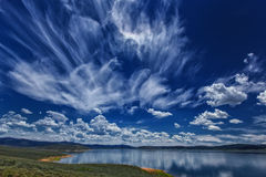 Wild Clouds Over Strawberry Stock Photography