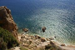 Wild coast. Beach around settlement Balaklava. Crimea Stock Photos