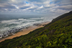Wild coast along Garden Route, South Africa Royalty Free Stock Photography