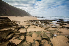 Wild coast along Garden Route, South Africa Royalty Free Stock Images