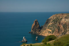 Wild coast of Black sea Stock Photo