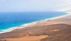 Wild coast on Fuerteventura Island. Canarias Stock Images