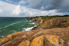 Wild coast of Ile d'Yeu in Vendee, France Royalty Free Stock Image