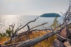 Wild coast on the island Royalty Free Stock Image