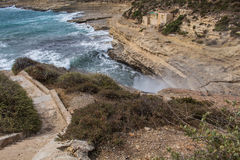 Wild coast of the island Malta Royalty Free Stock Photo