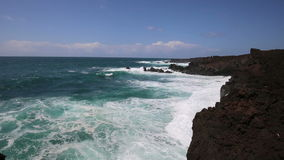 The wild coast of Lanzarote - Canary Islands stock video footage
