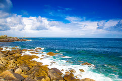 Wild coast. In north french royalty free stock photos