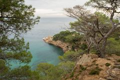 The wild coast. In the province of Girona royalty free stock photo