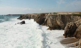 Wild coast in quiberon Royalty Free Stock Photography
