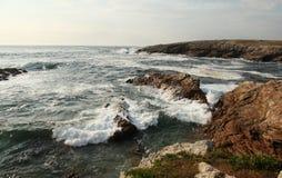 Wild coast in quiberon Stock Images