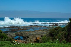 Wild Coast (South Africa). Waves at the scenic Wild Coast of South Africa (Eastern Cape stock photos