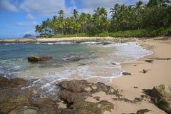 Wild coast of West Oahu Royalty Free Stock Photos