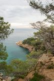 The wild coast. In the province of Girona royalty free stock image