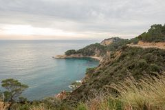 The wild coast. In the province of Girona stock photography