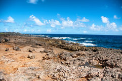 Wild Coastline of Aruba in the Caribbean Royalty Free Stock Photos