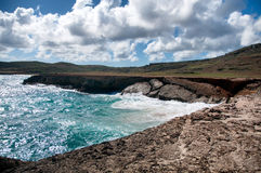 Wild Coastline of Aruba in the Caribbean Royalty Free Stock Image
