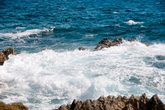 Wild Coastline of Aruba in the Caribbean Royalty Free Stock Images