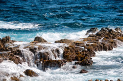 Wild Coastline of Aruba in the Caribbean Royalty Free Stock Photo