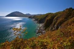 Wild coastline autumn day. Royalty Free Stock Image